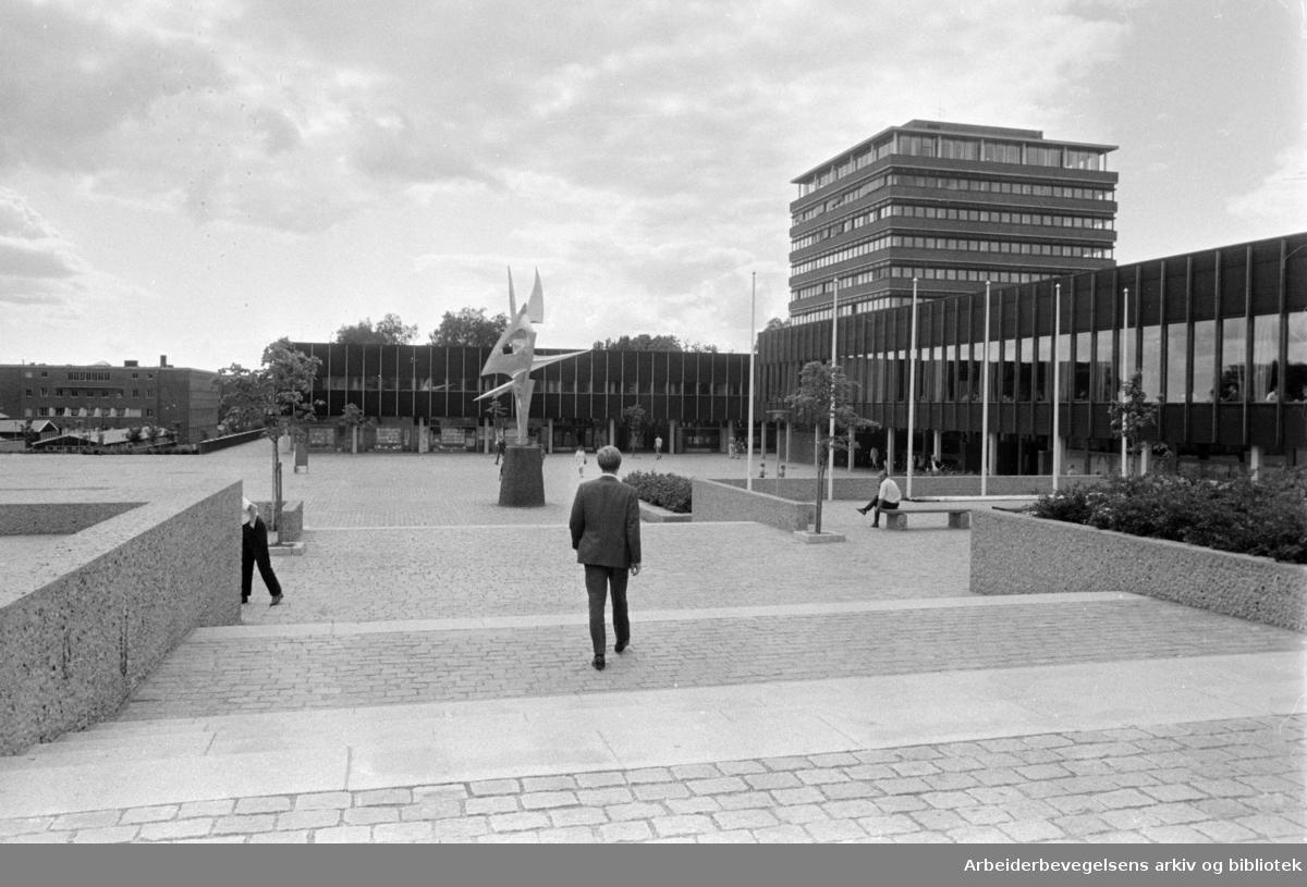 Blindern: Universitetet. August 1968