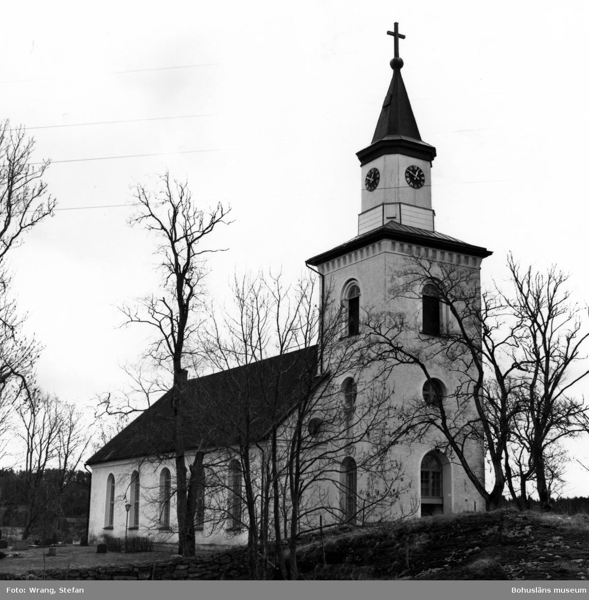 """Text till bilden: """"Krokstads kyrka. Från nordväst""""."""