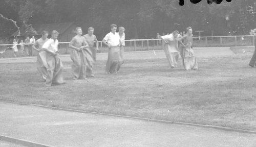 Regementets Dag 1955, A 6, Jönköping. Rocksjövallen. Patrulltävlan.