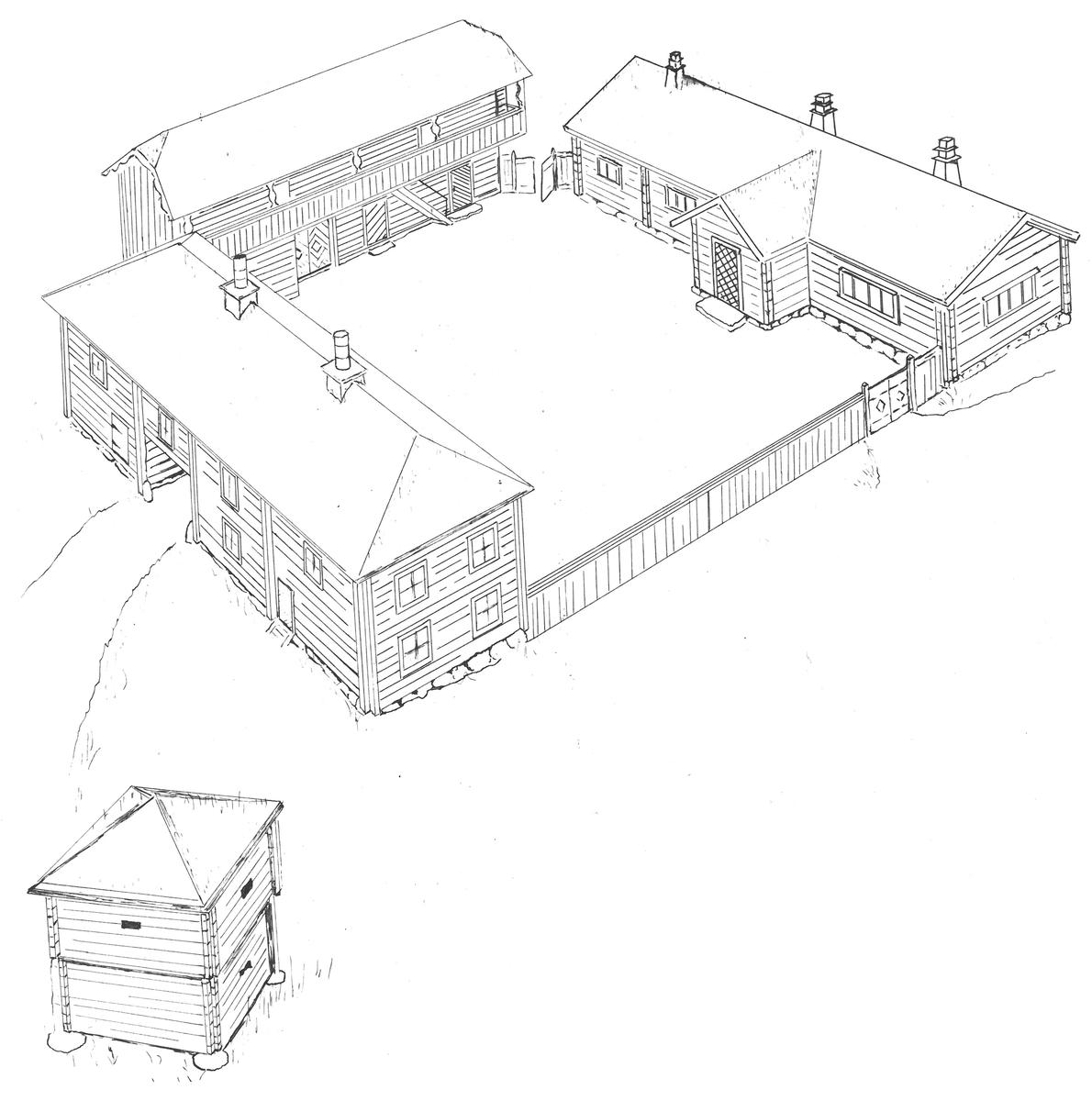 Det som idag kallas Bergsmansgården på Skansen har sammanställts och kompletterats med byggnader vid fyra tillfällen under åren 1895-1943. Avsikten är att illustrera en förmögen bergsmans mangård under 1700-talet. Byggnaderna är hämtade från västra Västmanland i Örebro län. Bergsmansgården rymmer ett bostadshus, två loftbodar samt ytterligare en mindre bod.