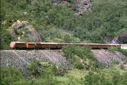 Dagtoget fra Trondheim til Oslo Ø i Drivdalen nær Kongsvoll.