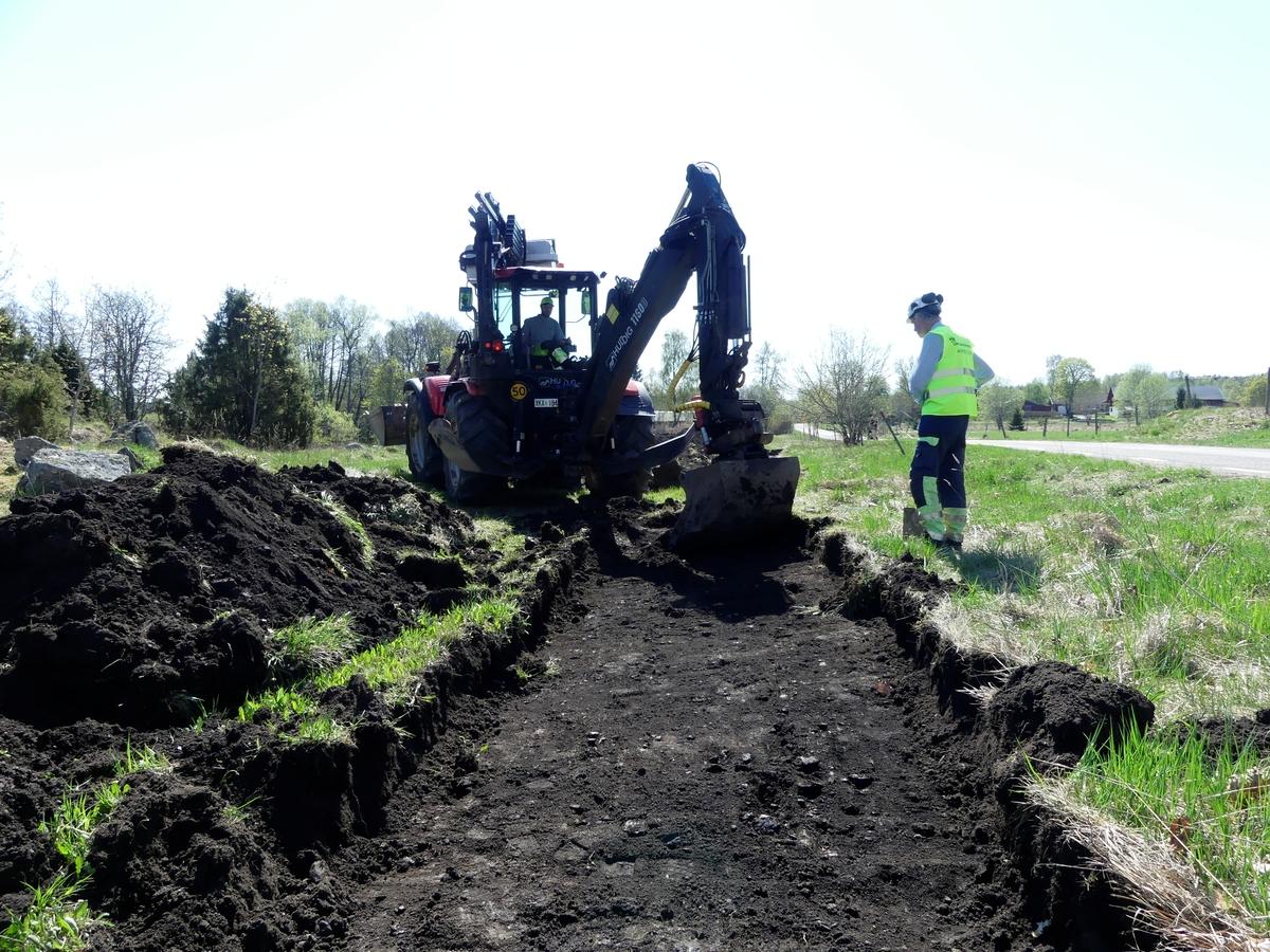 Arkeologisk utredning, framschaktning av lager A2096 i schakt 2171, Häggeby, Skuttunge socken, Uppland 2018