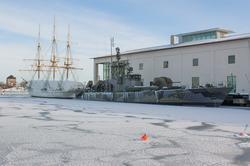 Fartyg förtöjda vid Marinmuseum, Karlskrona