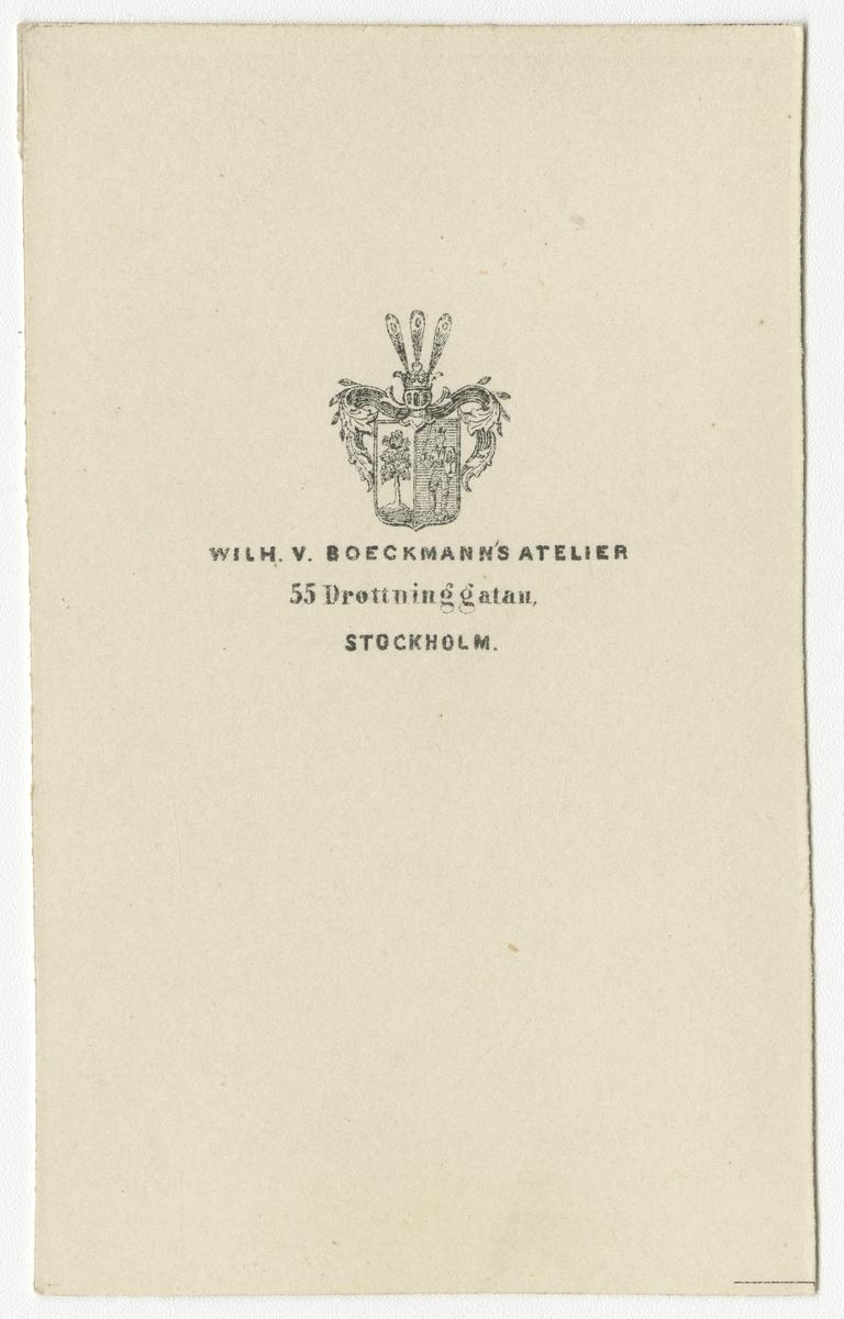Porträtt av Carl Victor Hugo Reuter, underlöjtnant vid Västgöta regemente I 6.