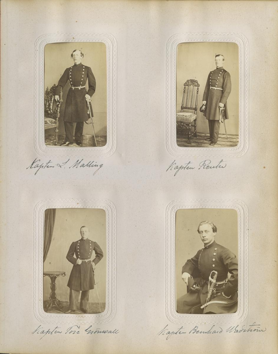 Porträtt av Bernhard Wilhelm Robert Wadström, underlöjtnant vid Västgöta regemente I 6.