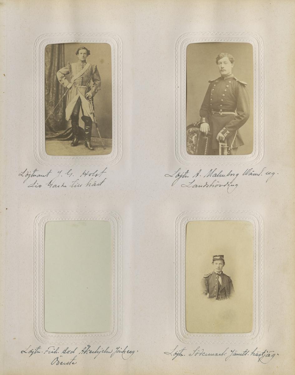 Porträtt av Emil Adolf Malmborg, officer vid Värmlands regemente I 22.  Se även bild AMA.006733.