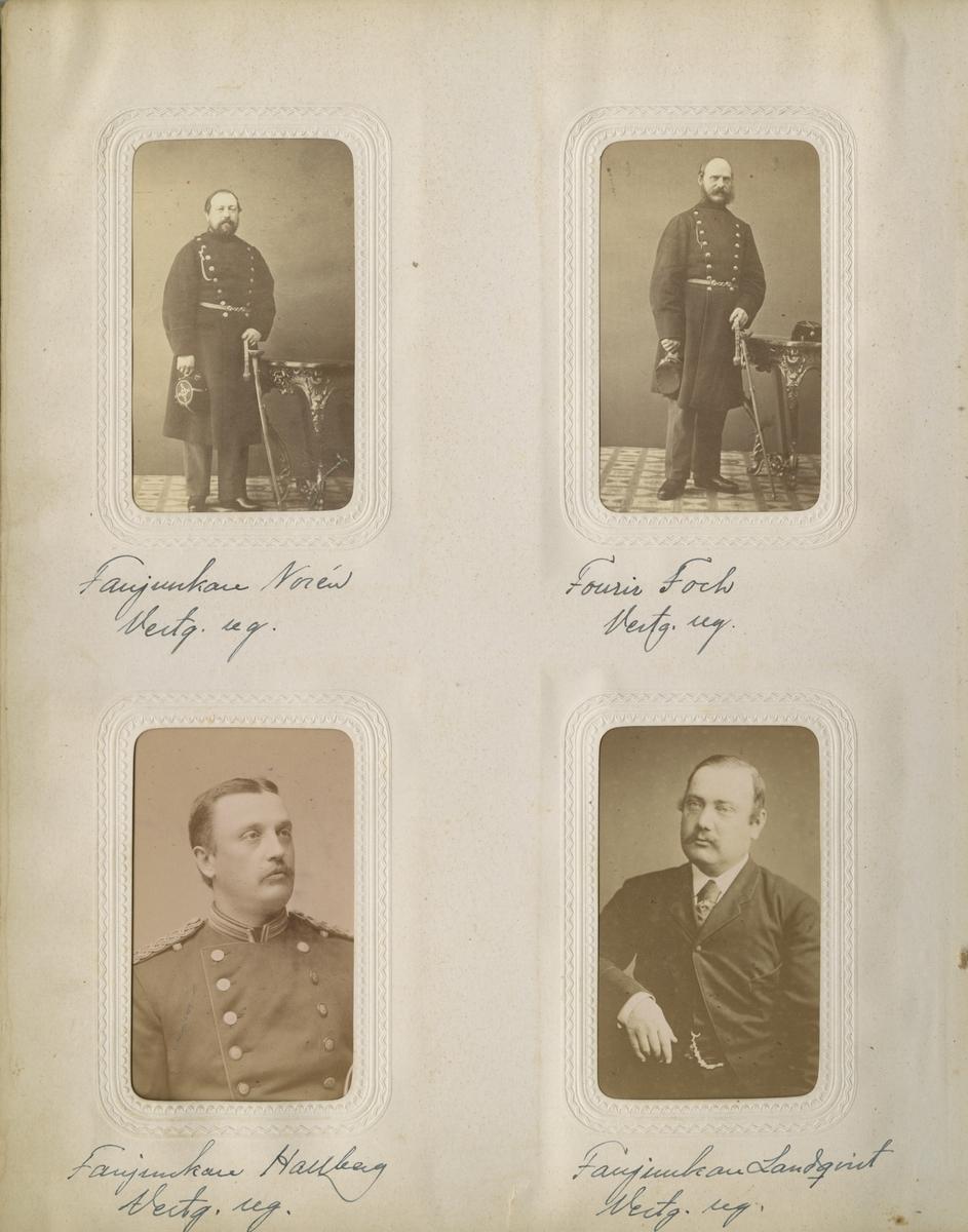 Porträtt av fanjunkare Hanberg vid Västgöta regemente I 6.