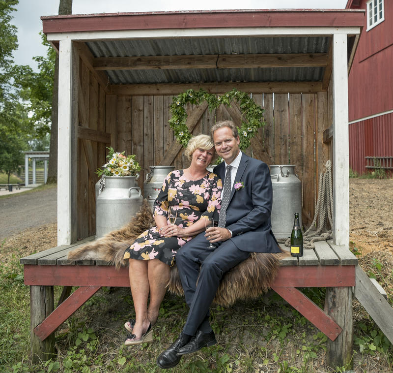 Tidenes bryllup på melkeramme