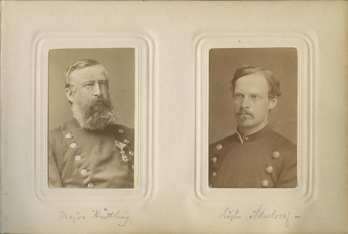 Porträtt av Carl Hugo Adelborg, löjtnant vid Livregementets grenadjärkår I 3.