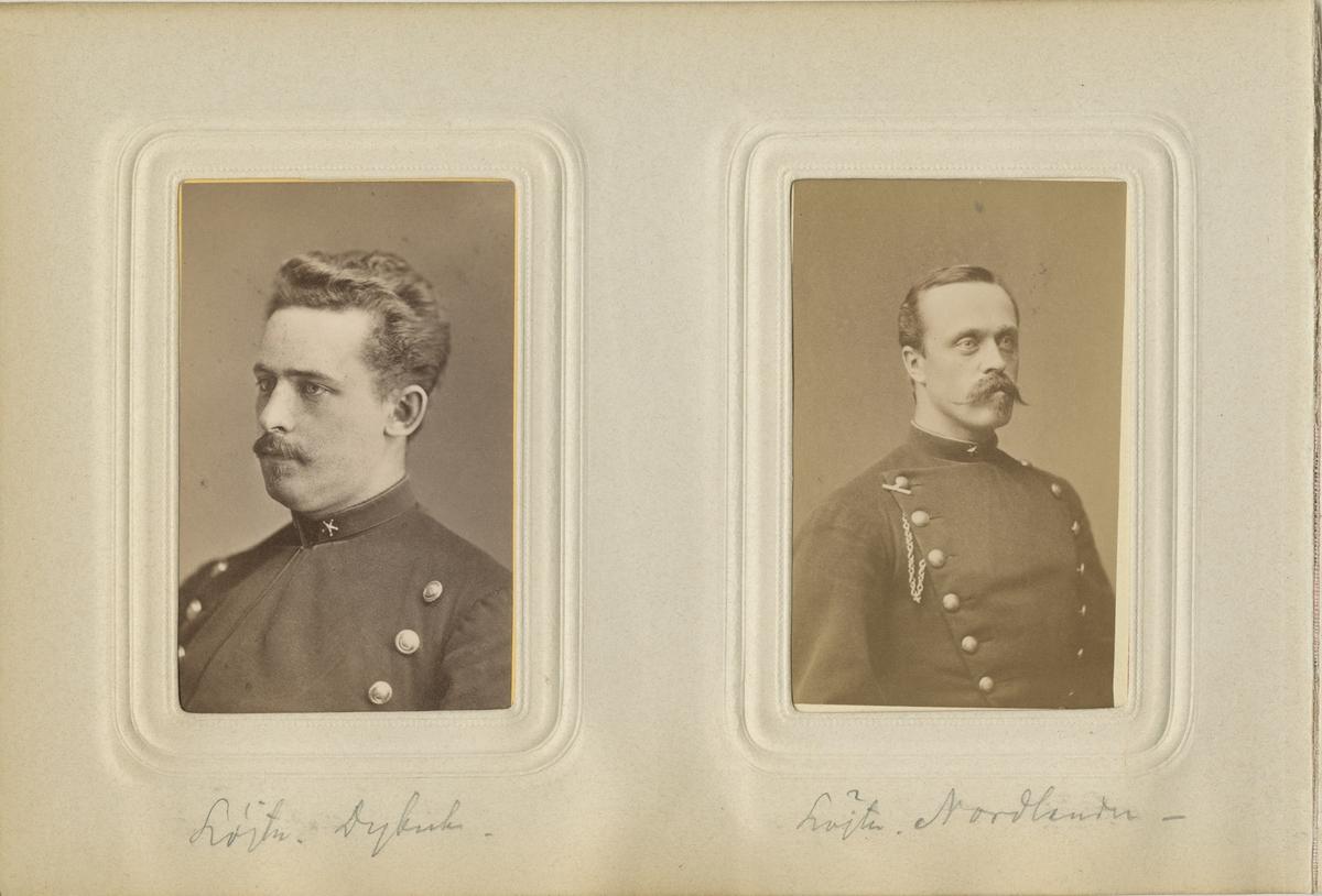 Porträtt av Herman Dybeck, underlöjtnant vid Dalregementet I 13.  Se även bild AMA.0007123.
