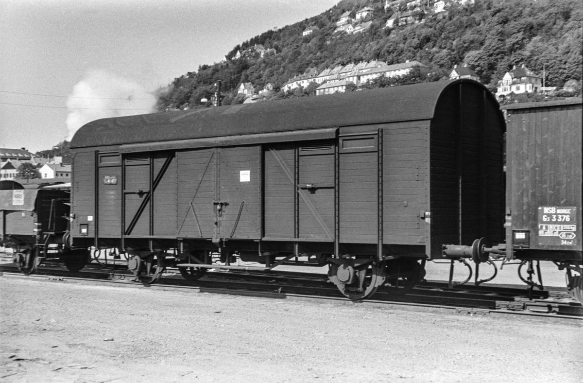 Godsvogn type G4 nr. 41407 på Bergen stasjon.
