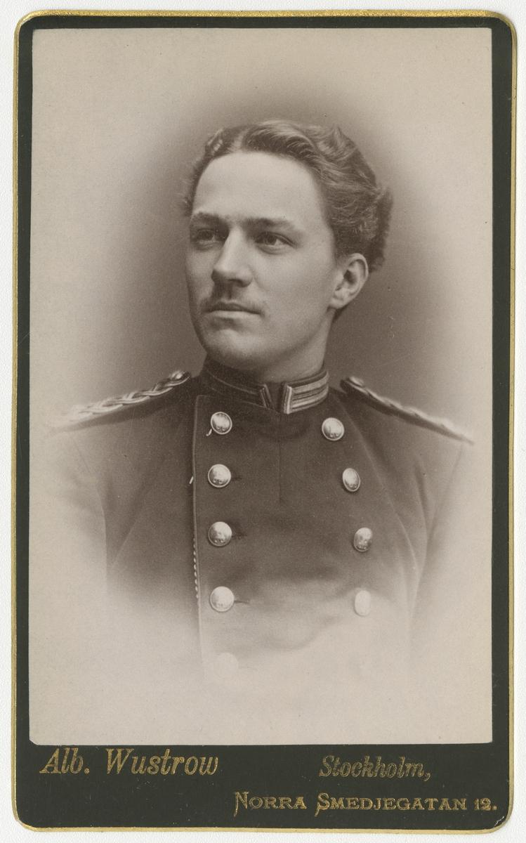 Porträtt av Charles Daniel Tottie, officer vid Jönköpings regemente I 12.  Se även bild AMA.0009063.