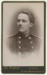 Porträtt av Charles Daniel Tottie, officer vid Jönköpings re
