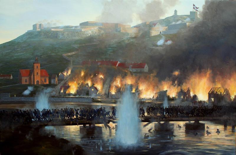 Skildring av bybrannen 1716. (Foto/Photo)