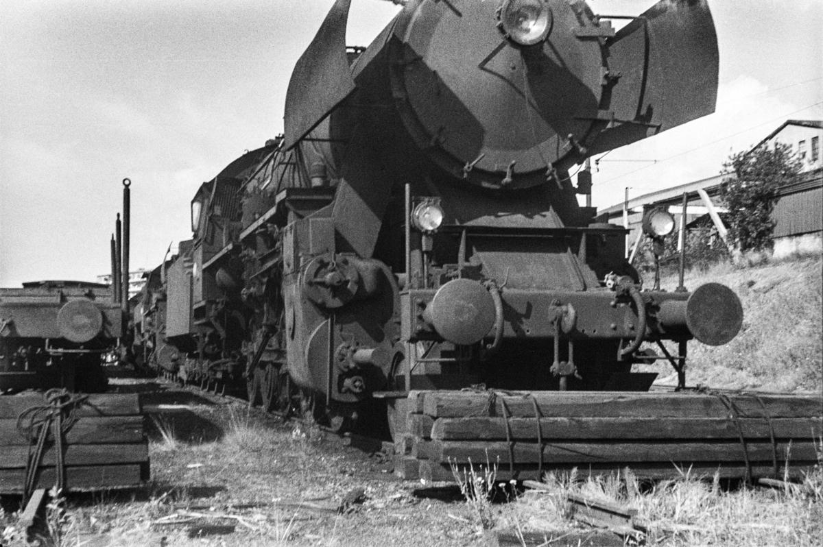 Hensatt damplokomotiv type 63a nr. 5862 i Lodalen i Oslo.