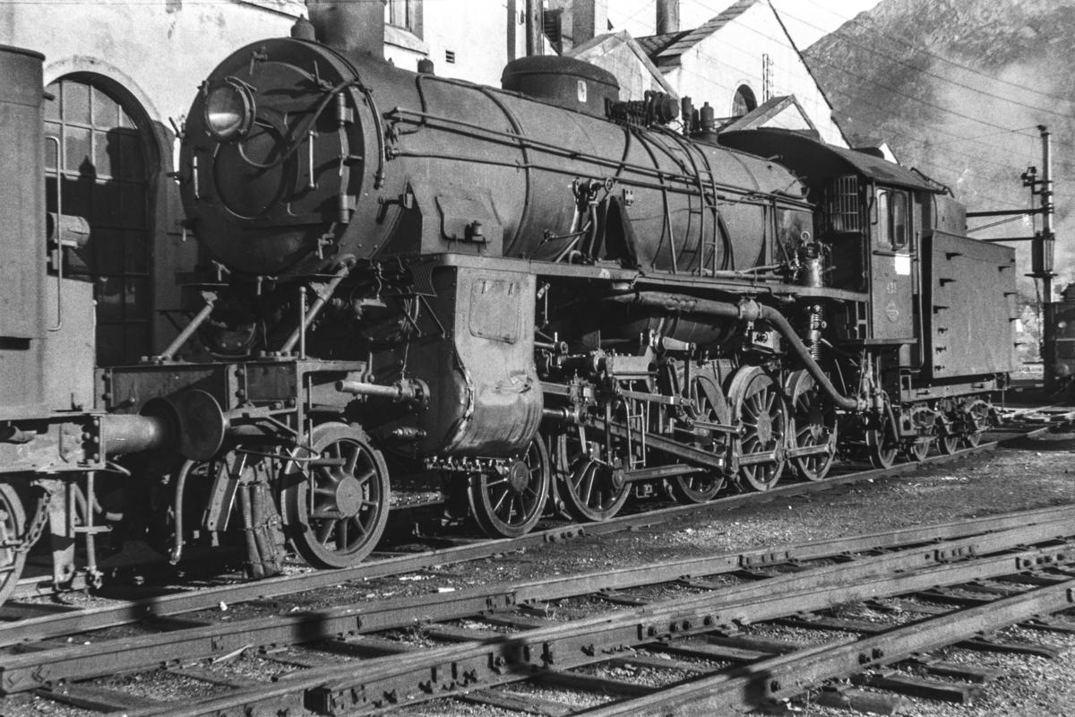 Damplokomotiv type 31b nr. 431 ved lokomotivstallen i Bergen.