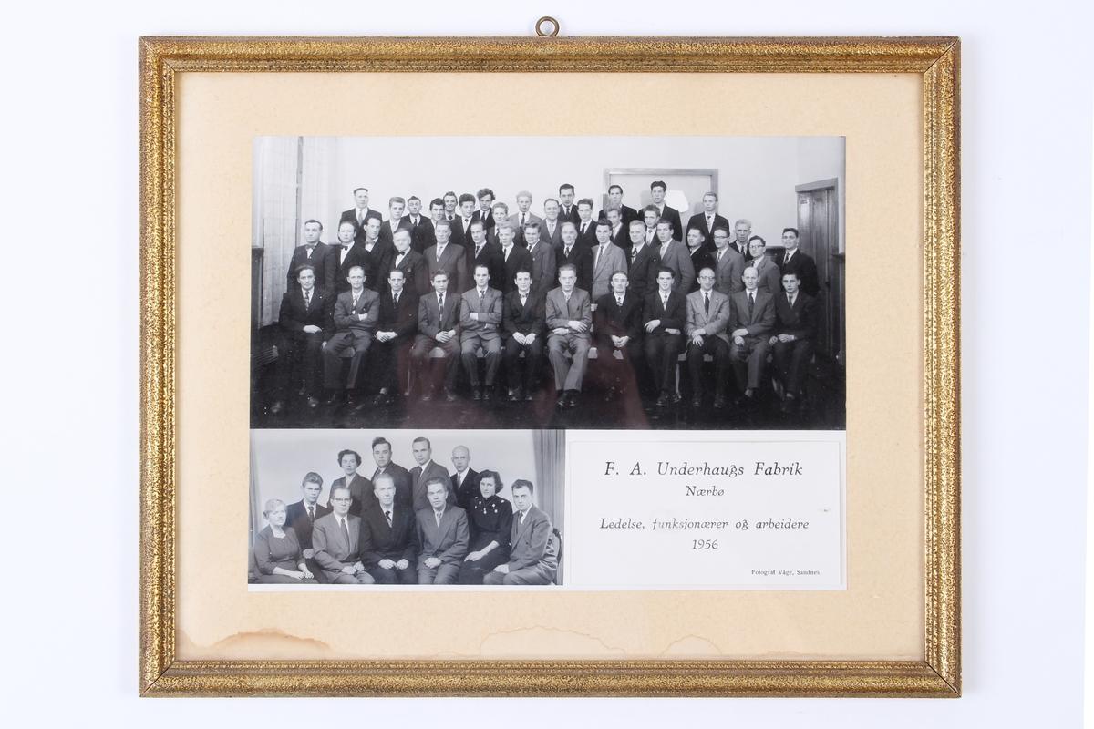 Ansatte, ledere og funksjonærer ved F. A. Underhaugs Fabrik på Nærbø