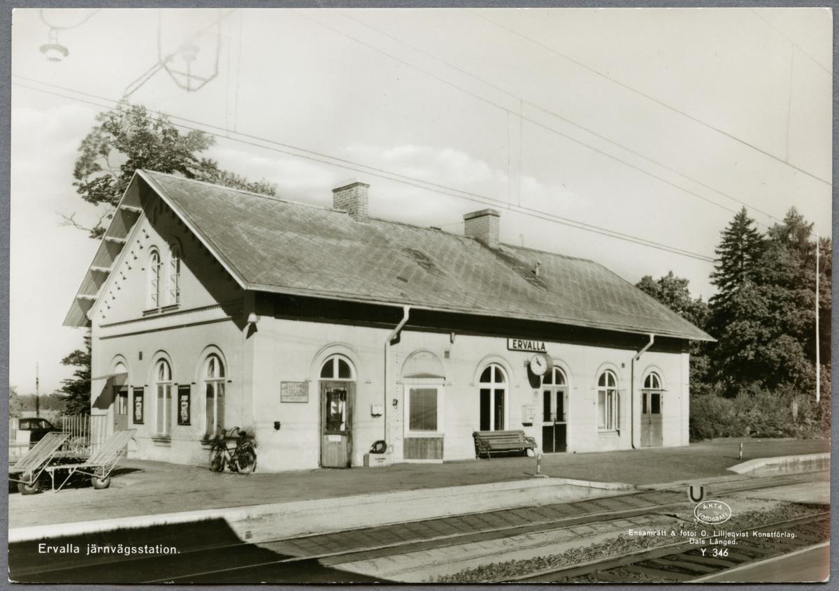Ervalla järnvägsstation.
