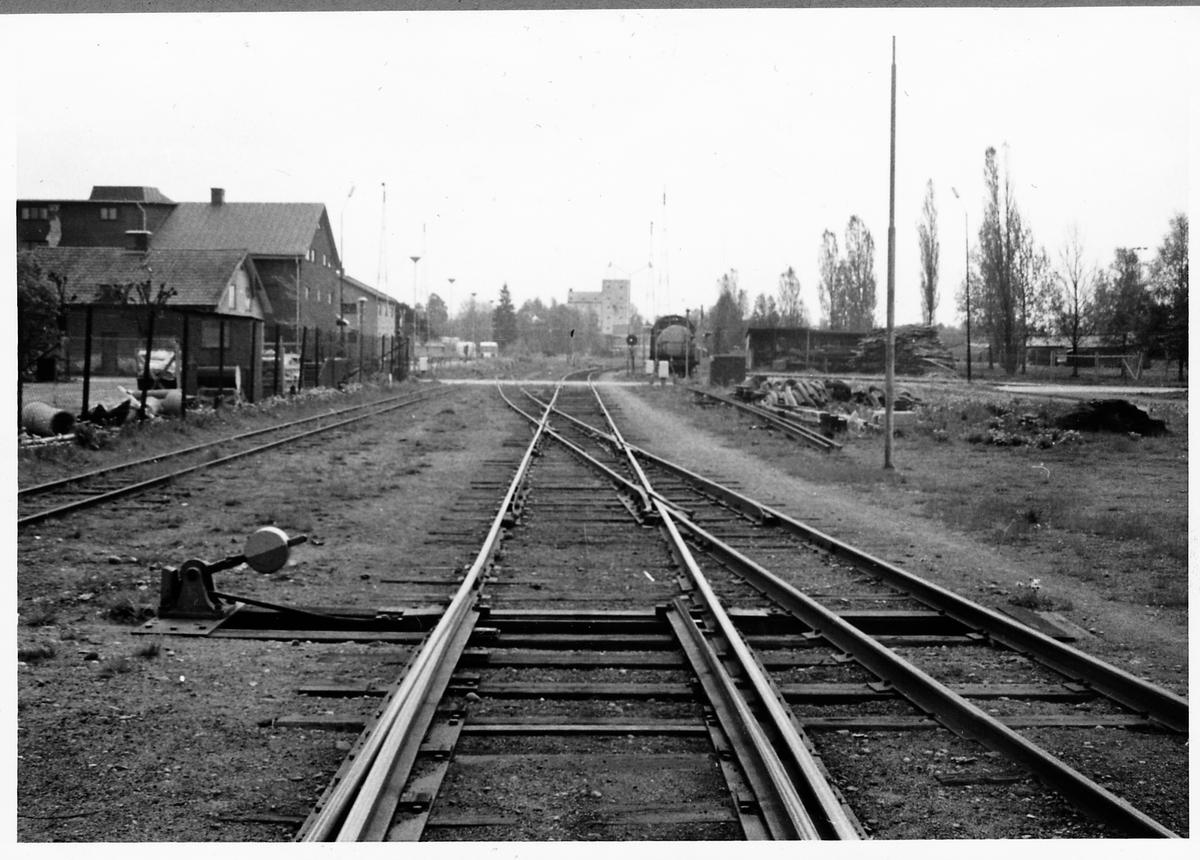 Korsning mellan Kalmar Järnväg och Vetlanda Järnväg i Vetlanda.