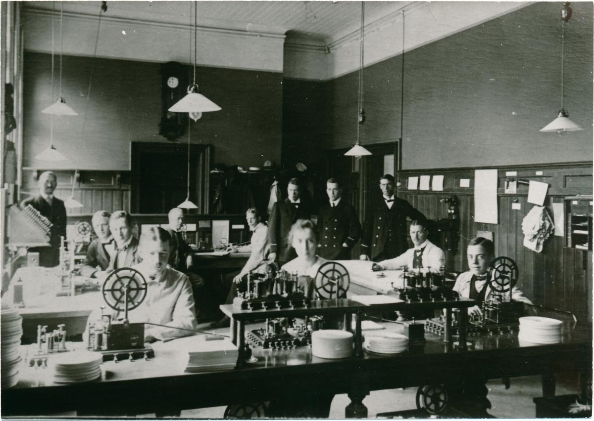 Hallsberg järnvägstelegrafen före 1918