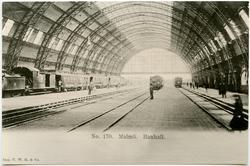 Malmö C banhall byggd 1891 av Motala Verkstad. Revs i oktob