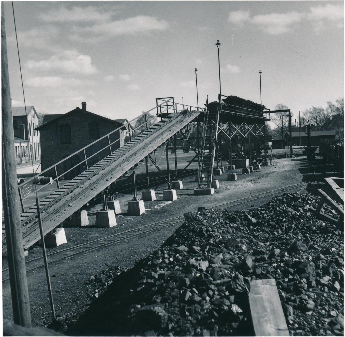 Kolbrygga i Östervärn, borttagen i augusti 1954