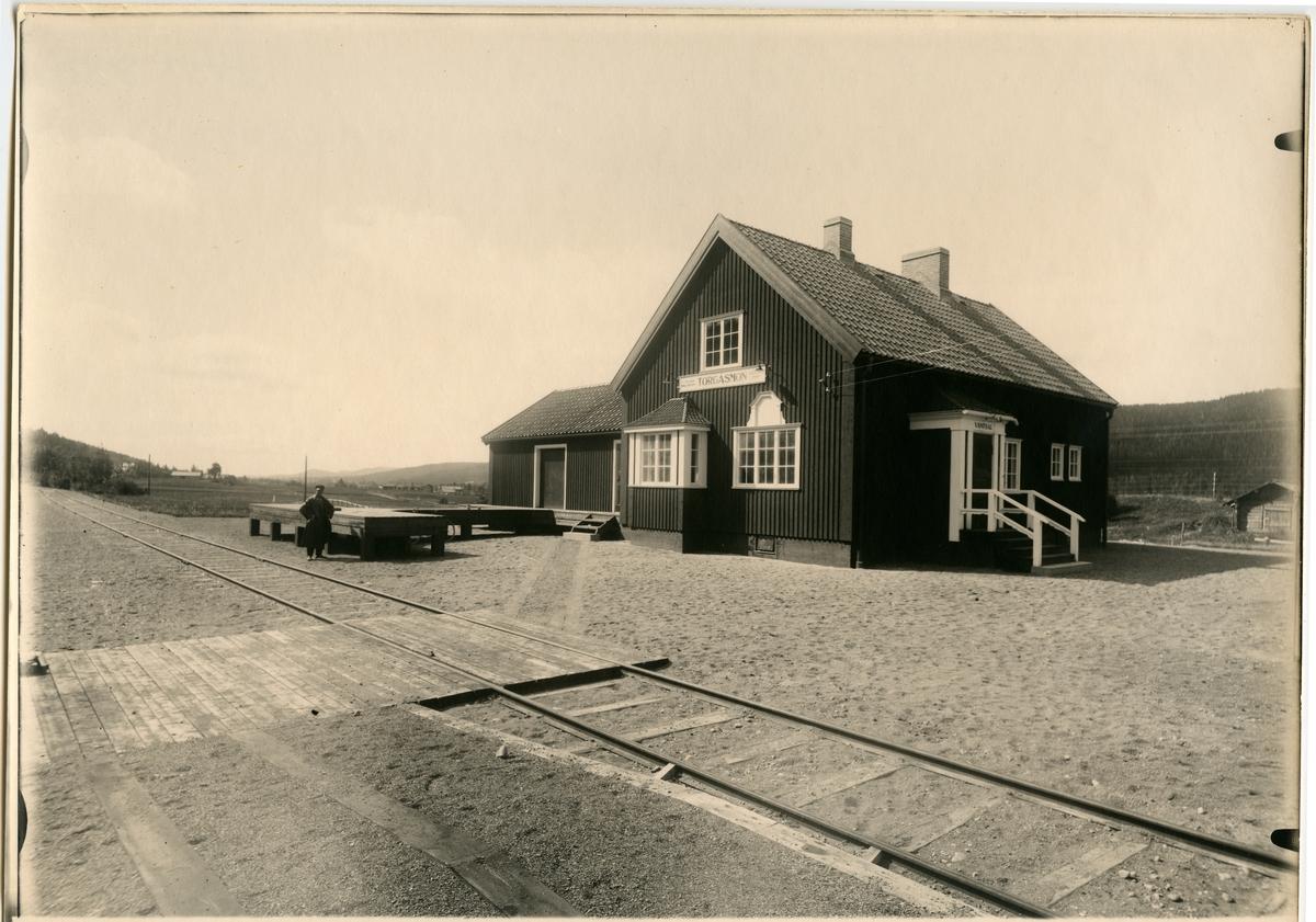 Limedsforsen - Särna Järnväg, LiSJ, Hållplats 1928, Station 1936.