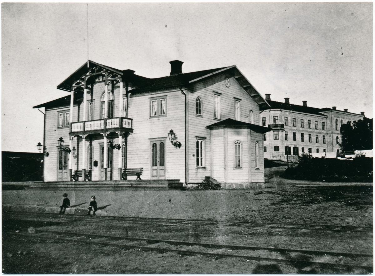 Ulricehamn station. äldsta stationshuset.