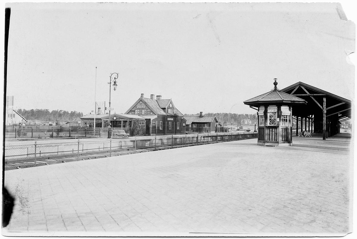 Kiosk vid  Älvsjö station.