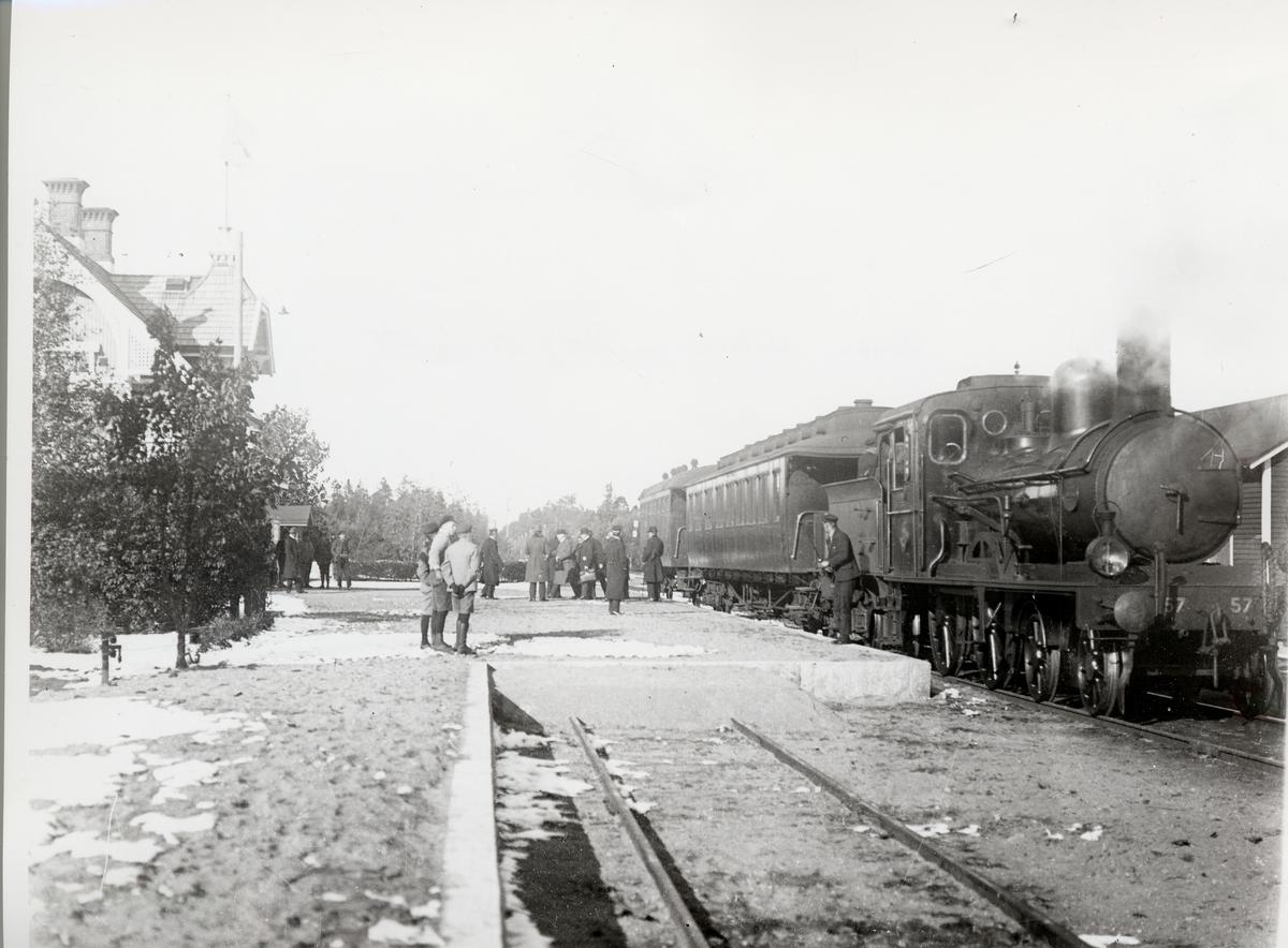 Hestra station  Borås-Alvesta Järnväg,  BAJ CB 57