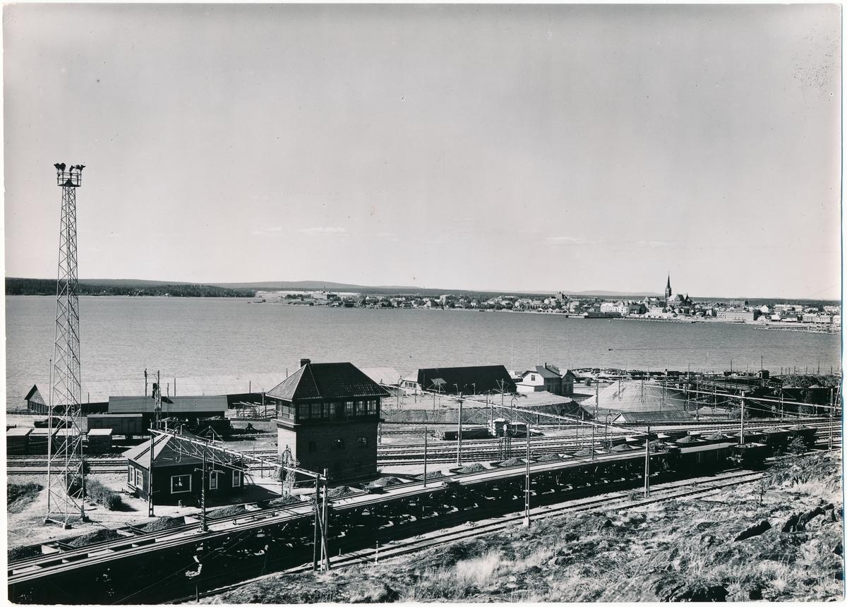 Luleå sett från Svartön, sommaren 1937.