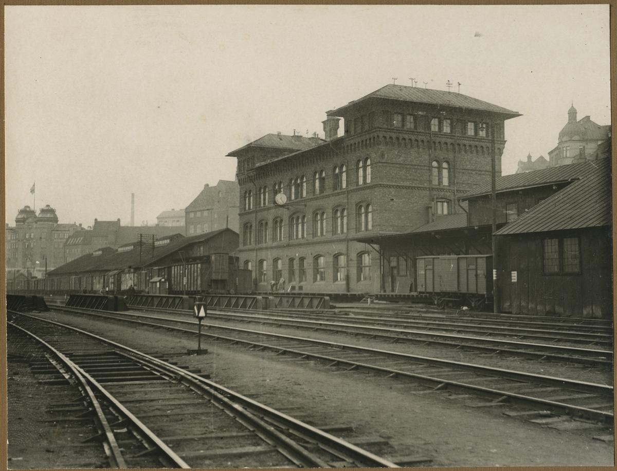 Stockholms Norra station år 1924 vid Norra Bantorget.
