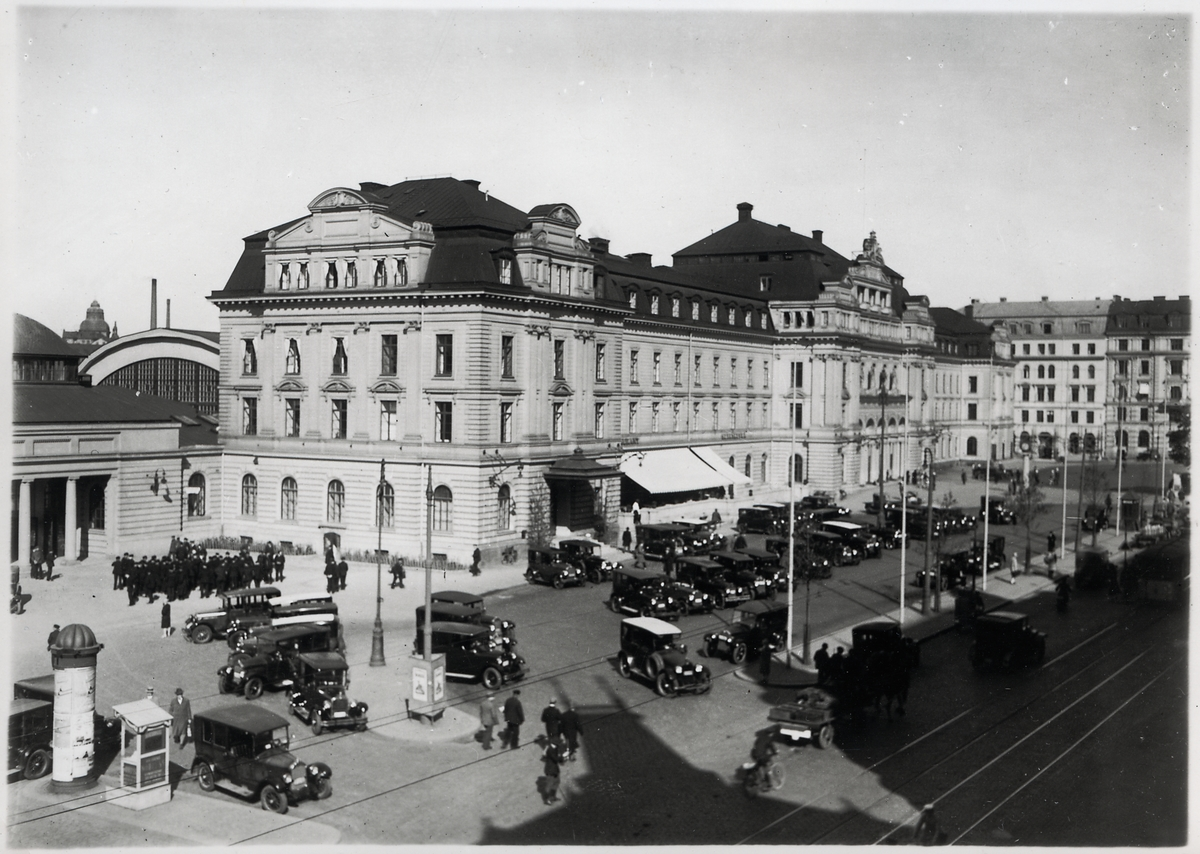 Stockholm Central omkring 1940 talet.