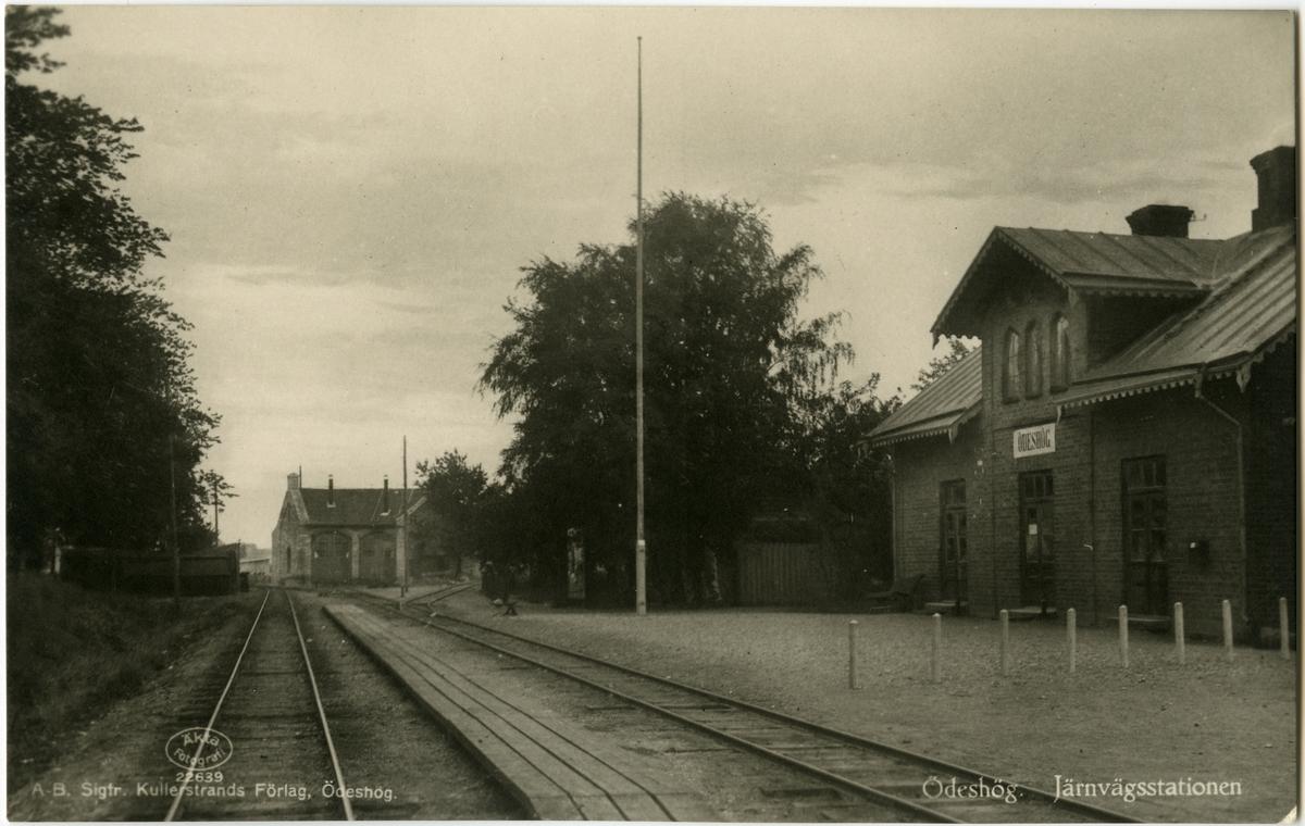 Ödeshög station. Mellersta Östergötlands Järnväg.
