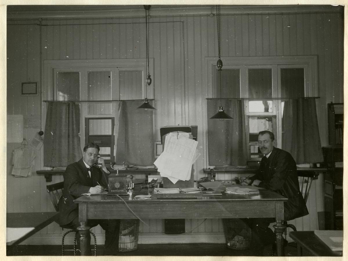 Östersund station. Statens Järnvägar, SJ. Fraktgodsexpeditionen år 1921.