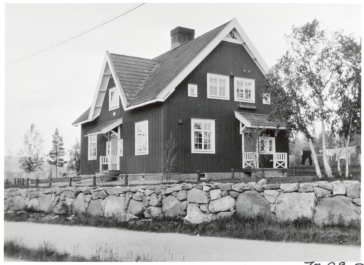 Gamla bosställshuset vid Porjus Station.