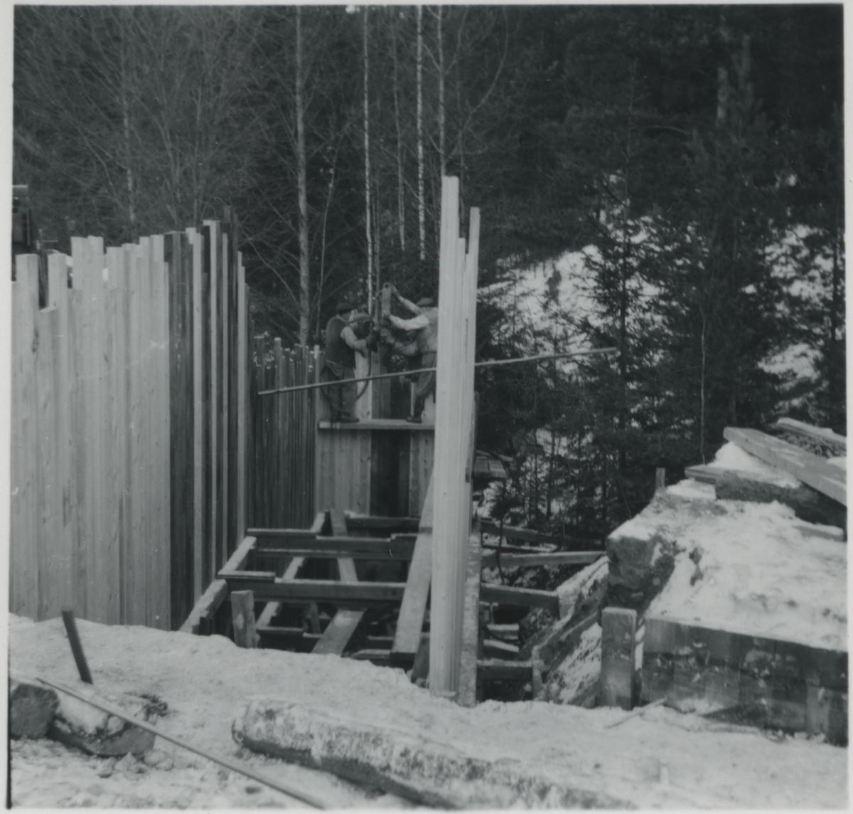 Dubbelspårsbyggnaden. På linjen mellan Järna - Katrineholm