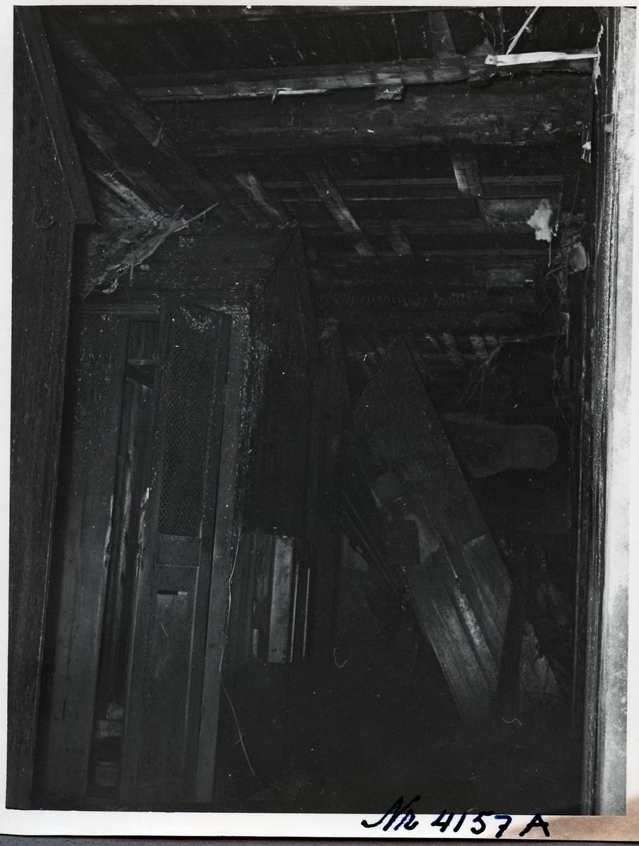 Interiörbild inifrån driftverkstaden Boden efter branden.
