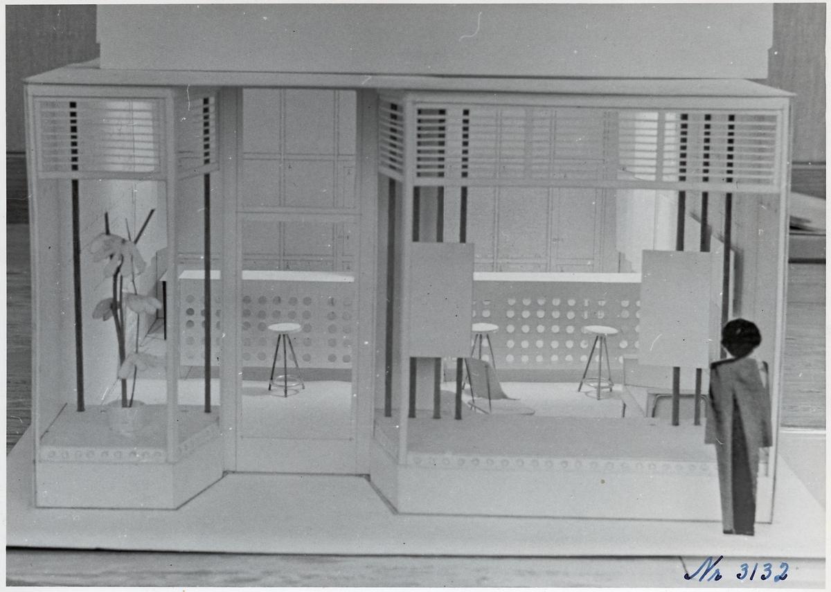 Modell av resebyrå i Hamburg Tyskland.