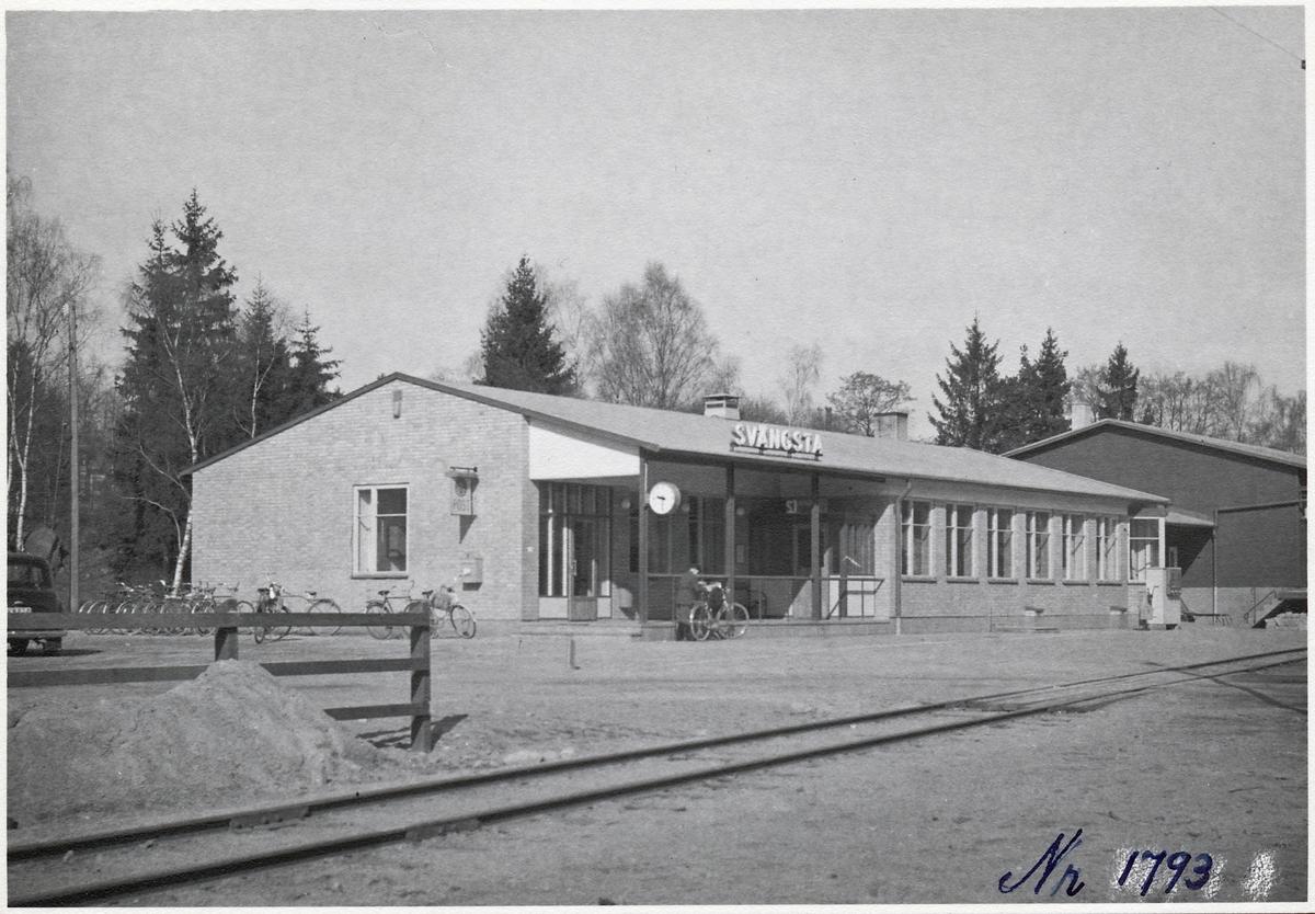 Svängsta station.