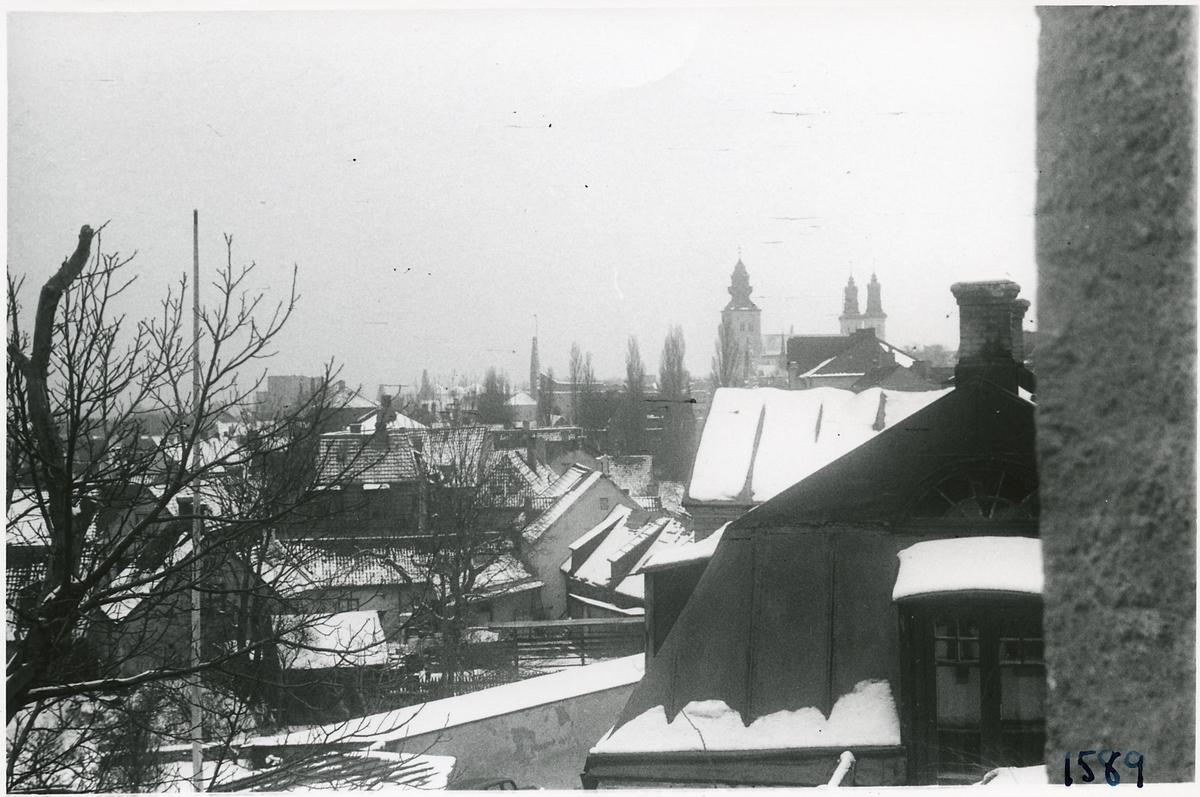 Visby, vy över staden.