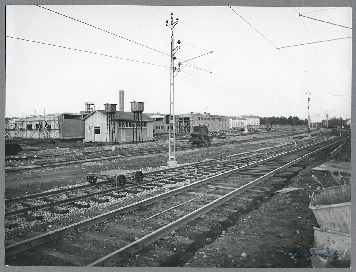 Bygge av driftsverkstad i Västerås.