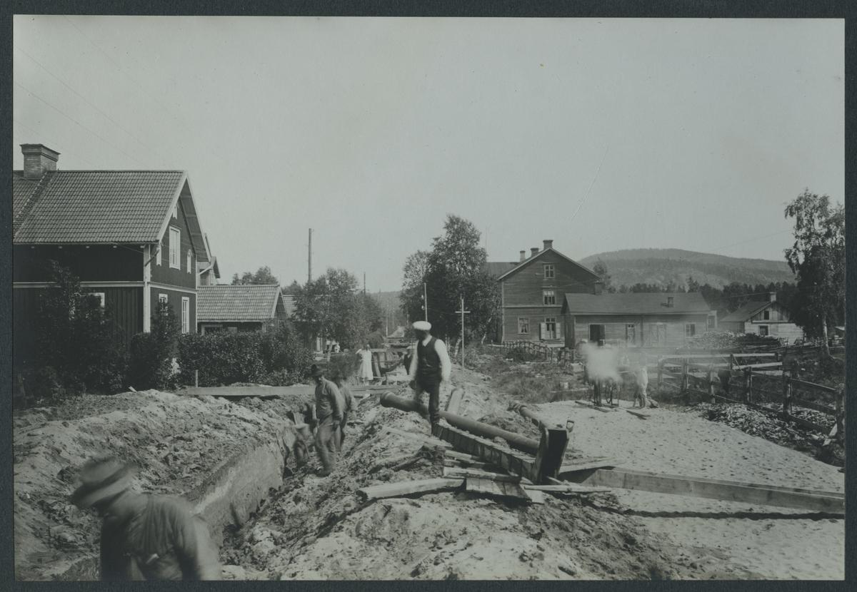 Nedläggning av vattenledning vid Älvsbyn