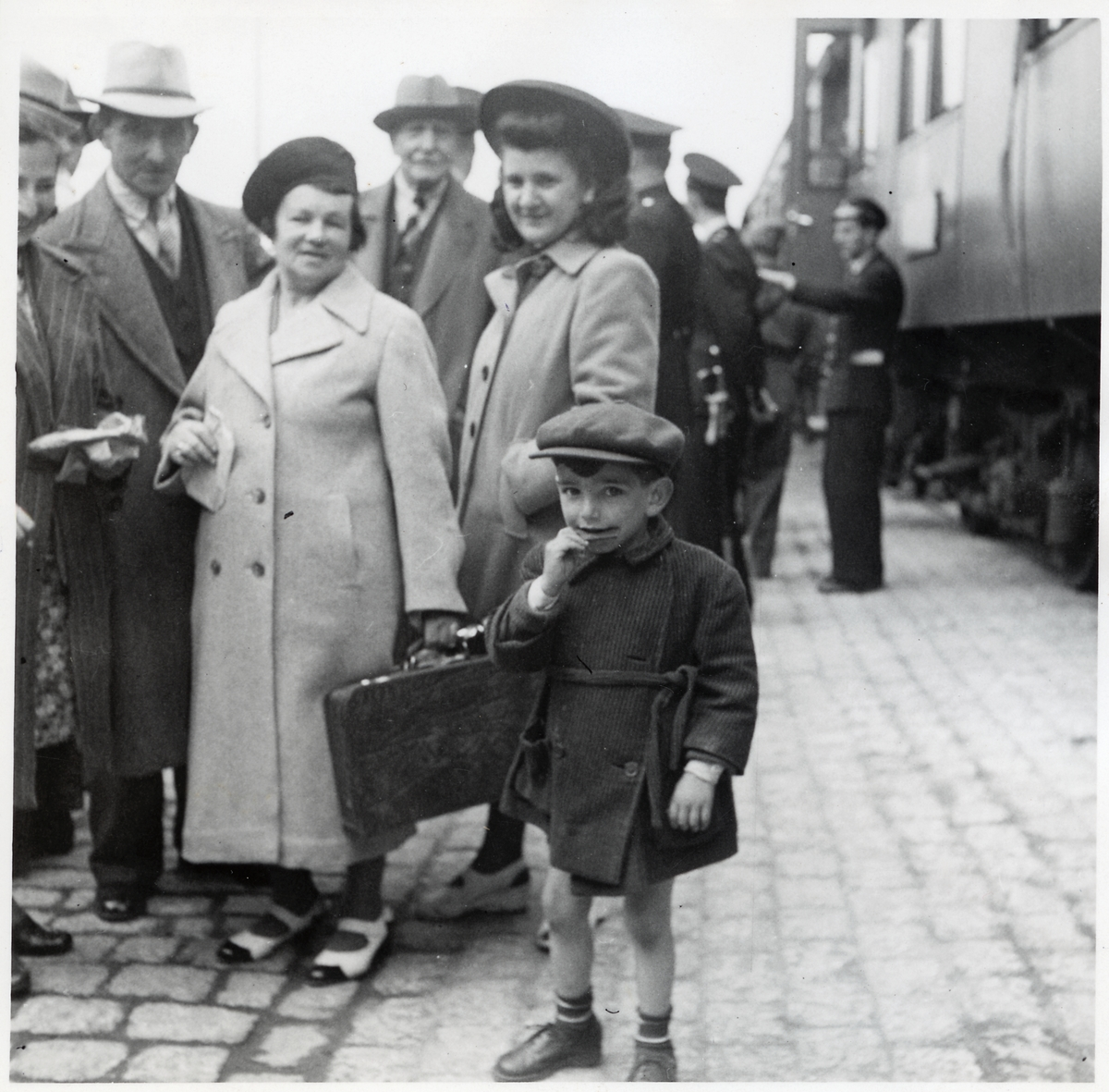 Danska flyktingar på hemresa.