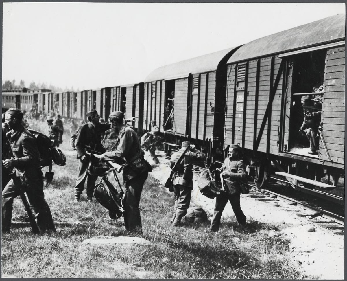 Militär järnvägstjänst.