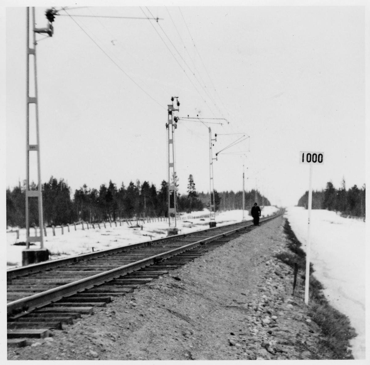 Inspektion  av järnvägsspår.