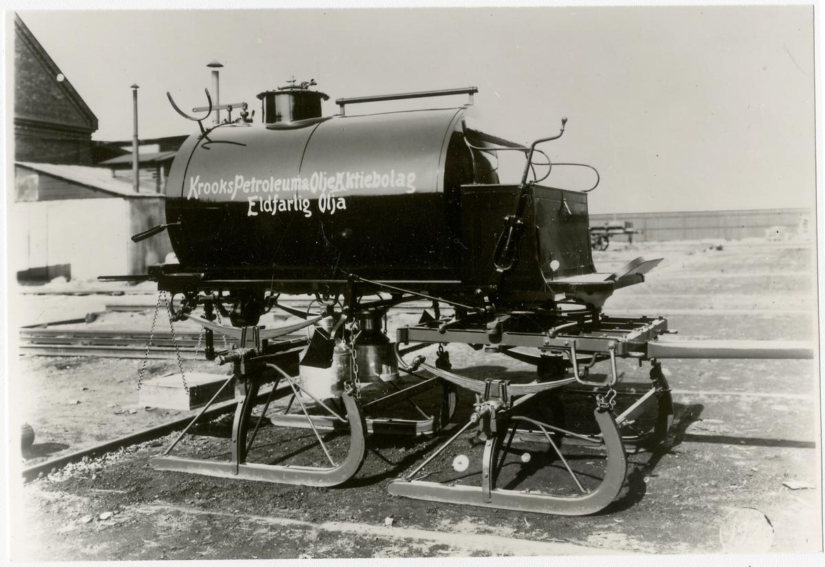Cisternvagn för gatutrafik.