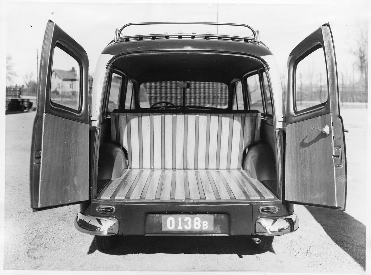 Volvo Duett med registreringsnummer O138B. Reklambild.