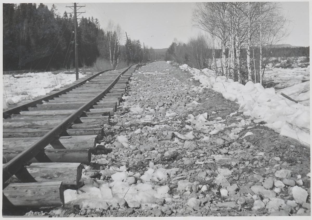 Efter översvämning i Dalälven vid Oxberg 1942.