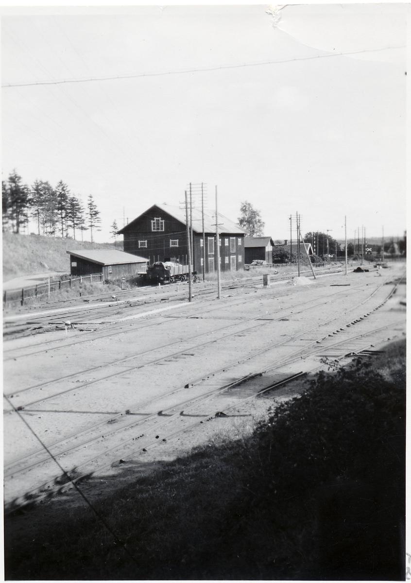 Vy över Vartofta stationsområde.